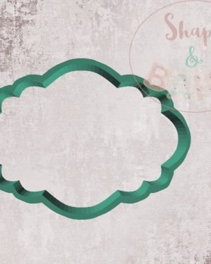 Rounded plaque cookie cutter