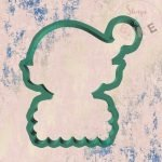 Elf name plaque cookie cutter