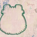 Girl romper cookie cutter