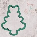 Bow christmas tree cookie cutter