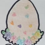 Floral egg cookie cutter