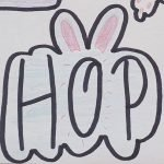 Hop with ears cookie cutter