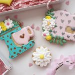 Floral sewing machine cookie cutter