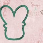 Floral bunny face cookie cutter