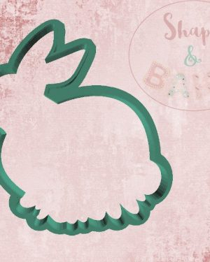 Floral sat bunny cookie cutter