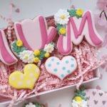Floral mum cookie cutters (2 cutters)