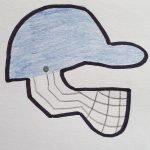 Cricket helmet cookie cutter