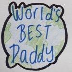 Worlds best dad cookie cutter