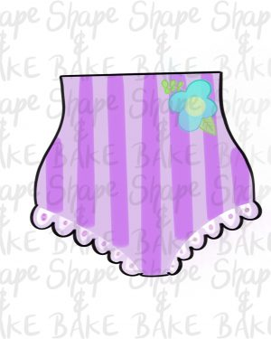 Frilly bikini Pants cookie cutter