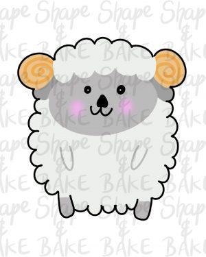 Full  sheep cookie cutter