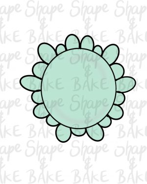 Frilly circle cookie cutter
