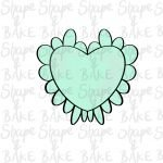 Frilly heart cookie cutter