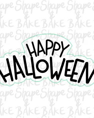 Happy Halloween plaque cookie cutter
