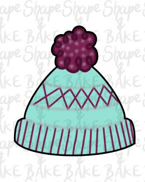 Bobble hat cookie cutter