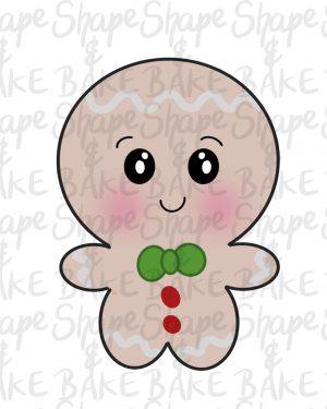 Gingerbread boy cookie cutter