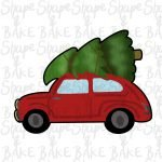 Car with a tree cookie cutter