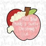 Christmas Apple cookie cutter