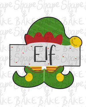 Elf Plaque cookie cutter