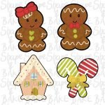 Gingerbread Set cookie cutters (set of 4 cutters)