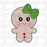 Gingerbread girl cookie cutter