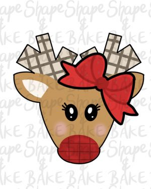 Girly reindeer cookie cutter