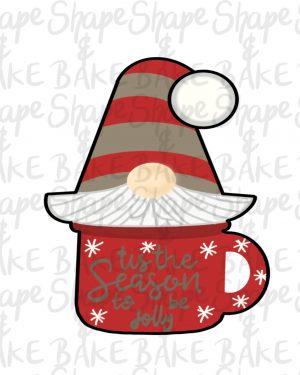 Gnome mug cookie cutter