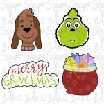 Grinchmas Set cookie cutters (set of 4 cutters)