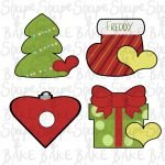 Indoor decorations set cookie cutters (set of 4 cutters)