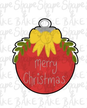 Leafy bauble cookie cutter