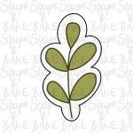 Leaf 3 cookie cutter