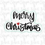 Merry christmas plaque cookie cutter (outline only)