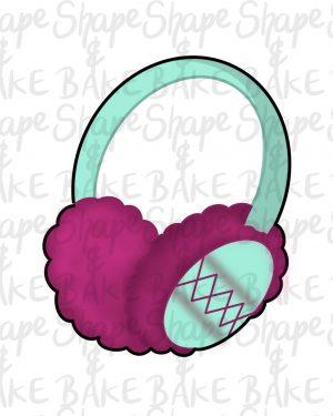 Ear muffs cookie cutter