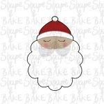 Santas face cookie cutter