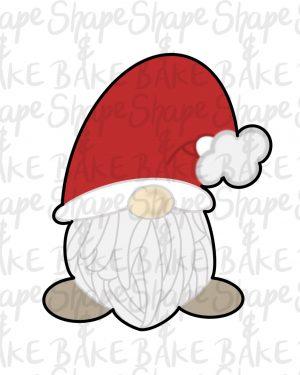 Santa gnome cookie cutter