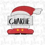 Santa hat and boot plaque cookie cutter