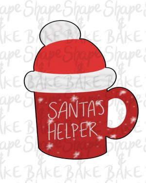 Santa's helper mug cookie cutter