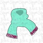 Woolly scarf cookie cutter