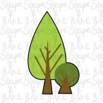 Tree set cookie cutter