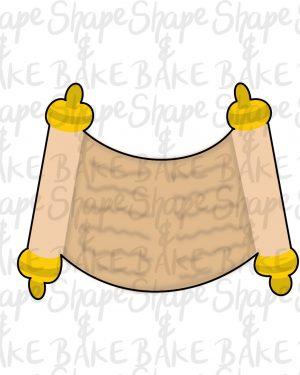 Scroll cookie cutter