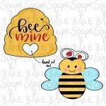 Bee mine cookie cutter set (2 cutters)