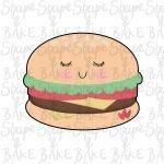 Burger cookie cutter