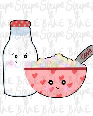 Cereal & Milk cookie cutter
