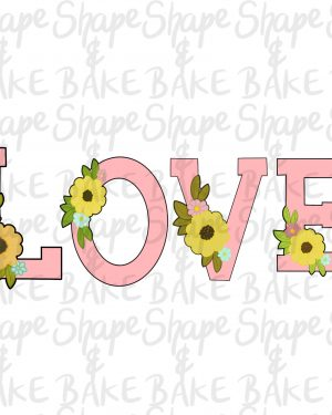Floral Love Set cookie cutters (4 cutters)