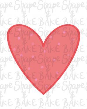 Heart 1 Cookie cutter