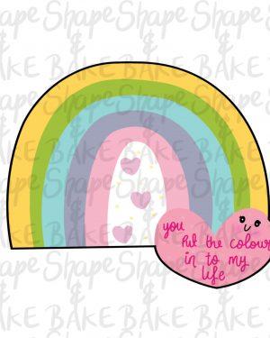 Heart Rainbow cookie cutter