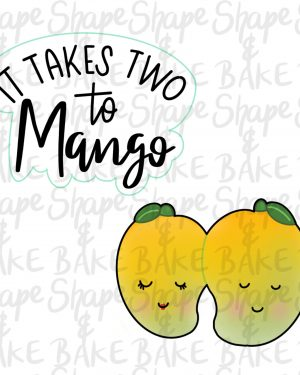 It takes two to mango cookie cutter set (2 cutters)