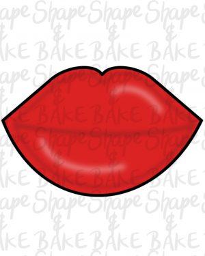 Lips cookie cutter