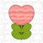 Love Heart Flower cookie cutter
