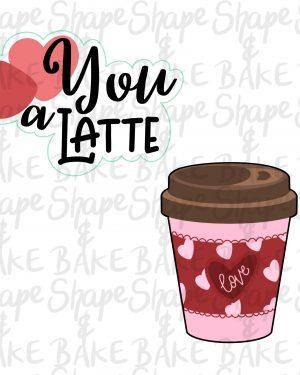 Love you a latte cookie cutter set (2 cutters)