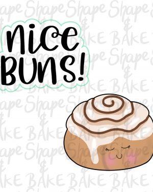 Nice Buns Cookie cutter set (2 cutters)